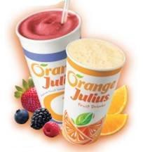 orange julius smoothies