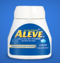 free aleve pain reliever